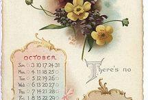 Vintage calendar