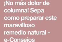 remedio natural Dolor Columna