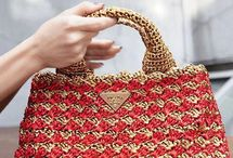 Prada crochet handbags
