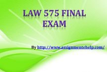 LAW 575 Final Exam