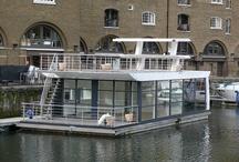 Café on sea in dock