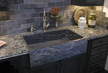 Kitchens / Stone is beautiful and functional in the kitchen. Get some kitchen design ideas here.