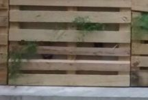 Pallet Wall / recycled pallet wall garden