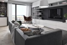 Gray open plan lounge