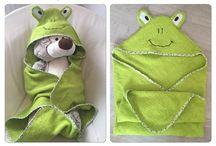 cape sortie de bain grenouille