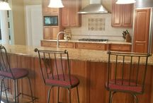 Kitchen Remodels before and after by Exeter Paint Stores. Designed by Tami & Nicole.