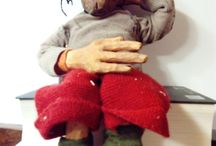 Puppets, marionettes / wooden marionettes, puppets i made : )