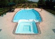 "Olympus Model by San Juan Fiberglass Pools / Olympus   Width 16' 2"" / 4.93M Length 39' 11"" / 12.17M Depth 5' 5"" / 1.65M Area 447ft2 / 41.5M2 Volume 14,100G / 53,400L  www.sanjuanpools.com"