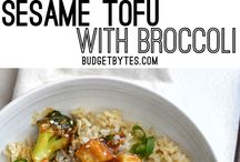 Tofu and other vegan dishes