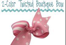 Fabric bows / Vázání a druhy stuh
