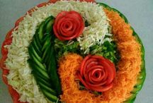 verduras decoradas