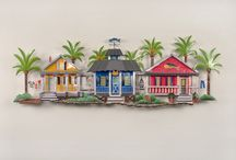 Surf Shack Metal Wall Art  / Silly Themed wall shacks and cottages for your home or office.  Creative designs by Mark Malizia and Joanne Ferrara of T.I. Design