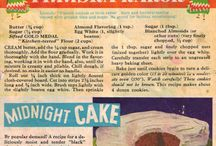 Vintage sweet recipes