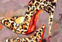 cipők festmeny