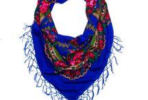 Folk shawls in many colours