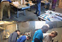 Ons cursusaanbod / We bieden veel diverse cursussen aan in de Openbare Werkplaats in Amsterdam.