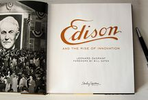 """Edison and the Rise of Innovation"" by Leonard DeGraaf; foreword by Bill Gates / ""Edison"" presents, in intimate detail, the man who helped engineer the modern world. One of history's most prolific inventors, and perhaps America's first celebrity, Thomas Alva Edison did more than bring incandescent light into every household and industry; he created a world-renowned brand, raised capital to support research and business, and pursued patents for his 1,000+ inventions."