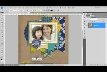 Photoshop & Digital Scrapbooking Video Tutorials by Clever Monkey Graphics / Video Tutorials I have created to show how to do digital scrapbooking  and use Photoshop 4.0 / by Clever Monkey Graphics
