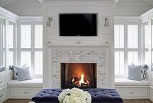 TV Fireplace wall