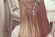 Girly hair art
