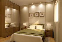 Masters' bedroom / light
