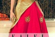 red maxi with golden blouse