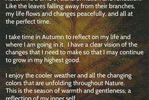 Herfst / Leven in het ritme van de seizoenen. De energie van de herfst ervaren...de vruchten, de oogst, de dankbaarheid daarvoor, het loslaten en het weer naar binnen keren.
