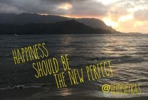 Happiness Should Be the New Perfect / Inspirational quote from Author @HeidiSiefkas and her book #WithNewEyes - Enjoy the views.