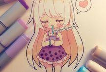 Cute Copic Drawings