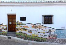 La Casa de la Pintora / Rincones de La Casa de la Pintora, estudio de pintura, rincón para el arte en el Barrio de la Villa de Vélez-Málaga