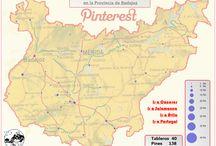 Provincia de Badajoz / Estas son las localidades de la Provincia de Badajoz que tenemos representadas en nuestro perfil de Pinterest.