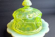 Vaseline  glass / by Vicki McReynolds Stewart