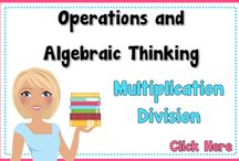 Multiplication and Division Resources / This Pinterest board is all about multiplication and division resources for the classroom.