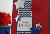 Red, White & Blue - Patriotic Card Making / Cards Created for the Operation Write Home Blog Hop