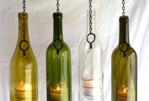 glass bottle art / recycle upcycle ideas with glass bottlels / by virtuly glass