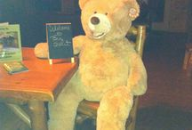 The Bears of Amazing Branson Cabins / Cabin greeters, snuggle buddies, mascot... these bears are the BEST
