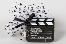 Bonbonnières à dragées thème cinéma / Contenants à dragées thème cinéma