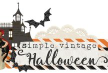 Simple Vintage Halloween / EEK!  Trick or treat has never been sweeter than with the new Simple Vintage Halloween collection from Simple Stories!  Fab-BOO-lously illustrated vintage designs featuring classic, old-fashioned Halloween icons make this one spooktacular collection!