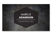 Business Cards for Construction Businesses and Builders / Customizable business cards and marketing materials for construction businesses and builders.
