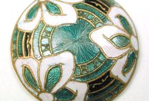 Buttons - Guilloche and Basse Taille Enamels