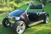 2008 Ez Go Low Rider / 2008 Ez Go Gas Low Rider golf cart, black metallic with purple pearl paint,