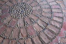 pebble floor mosaics