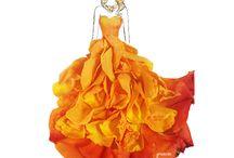Ilustraciones Grace Ciao / Diseño de moda con pétalos de flores