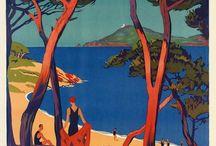 Cote d'Azur in klassieke posters