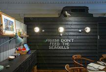 Gone Fish'n: London's Newest Cafe / Read the entire article at: http://designlifenetwork.com/gone-fishn  #CafeDesign #Cafe #InteriorDesign #EnglishFishandChips #EnglishFishandChipsonHighStreet #FishandChips #PhilipWattsDesign #RestaurantDesign