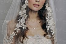 Bride's dress and veil