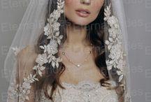 Bride's dress and veil