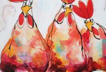 Gallos y Gallinas / Aves