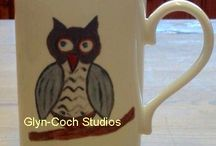 Bone China Mugs / Fine Bone China Mugs, hand decorated in Wales using our own designs.