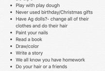 To do list When you're bored